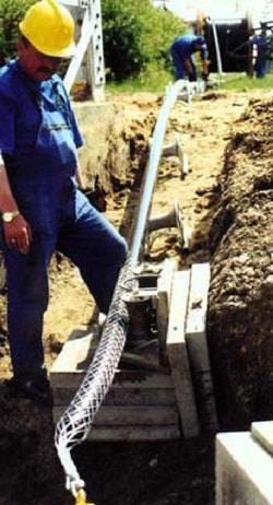 Размотка и протяжка кабеля